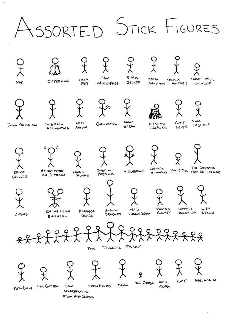 Assortedstickfigures